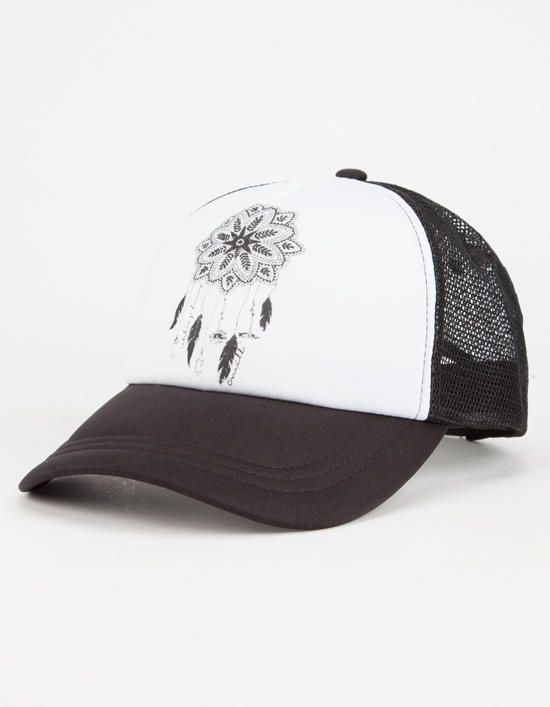 O'neill Catchin Dreams Womens Trucker Hat Black/White One Size For Women 26547912501 from Tilly's. Saved to The Girls.