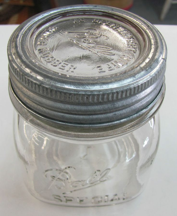 Vintage Ball Pint SPECIAL Square PINT Wide Mouth Mason Jar INSERT KNIFE Lid Band