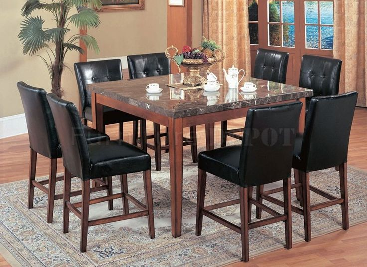 Faux Marble Dining Room Set