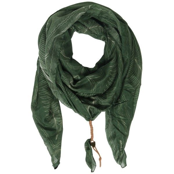 Htc Hollywood Trading Company Men Palm Trees Silk & Cotton Satin Scarf ($225) ❤ liked on Polyvore featuring men's fashion, men's accessories, men's scarves, green, mens scarves and mens silk scarves