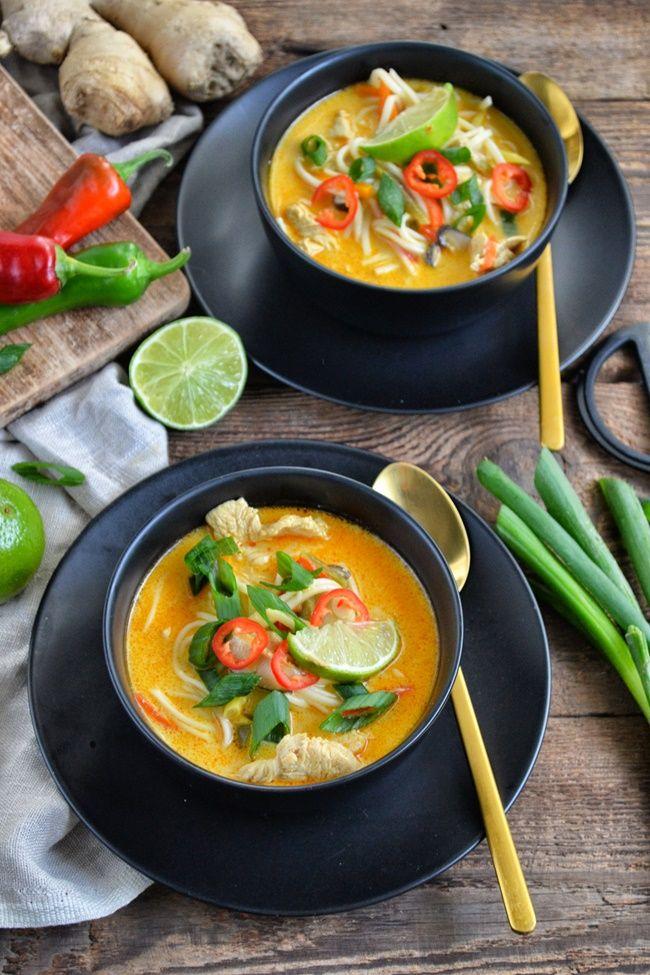 Zupa Tajska Z Kurczakiem Pysznie Czy Przepysznie Asian Recipes Food Asian Cooking
