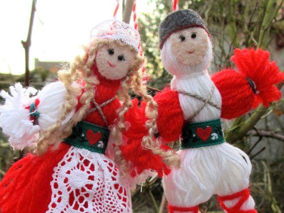 Martenitsa handmade Baba Marta Bulgarian dolls in by IsabelleNigel