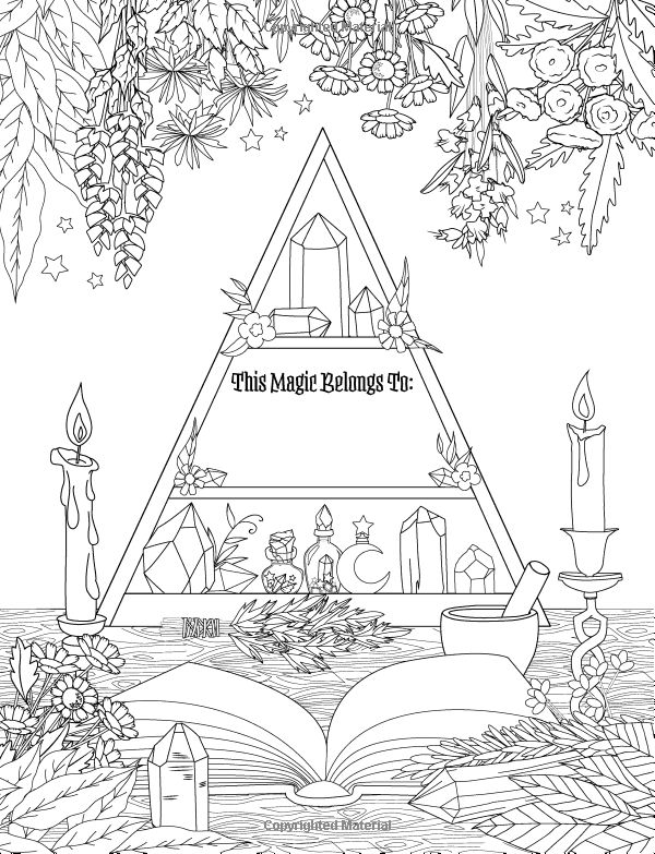 Coloring Book of Shadows: Witch Life: Amy Cesari ...