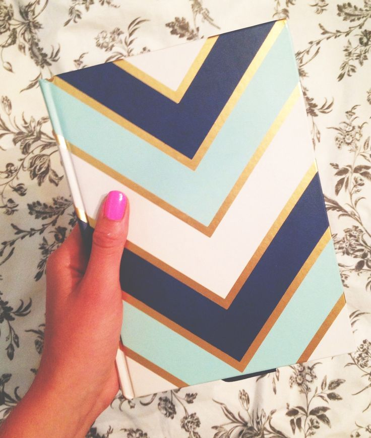 Blue and Gold Chevron Notebook                                                                                                                                                     More