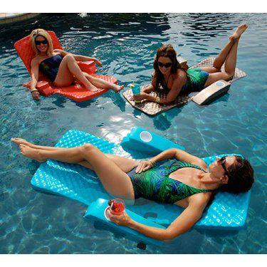 TRC Recreation Super-Soft Adjustable Foam Pool Float Recliner - Swimming Pool Floats at Hayneedle