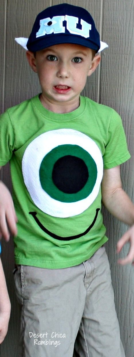 DIY Monsters University Costumes - Mike Wazowski Halloween Costume