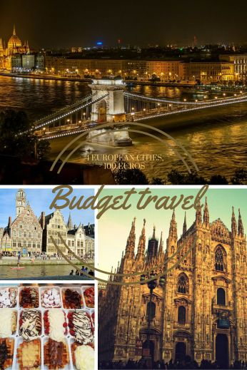 Travelling to 4 cities in 3 countries for 100 euros-Budget travel