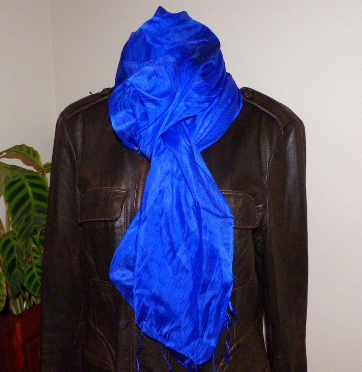 Scarf / Wrap / Shawl, 100% Silk, Unisex, Luxurious, Soft, Vibrant Colour #27 by WanderingThreadz on Etsy