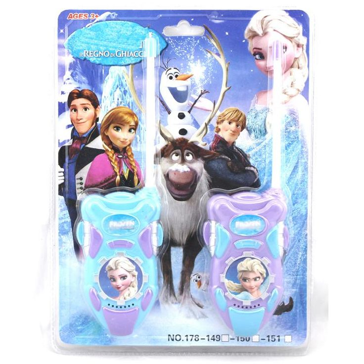 2pcs/lot Princess Elsa Princess Toy Interphone Children Game Intercom Electronic Toy Walkie Talkie Toys Kids Girl Gifts Toys #D