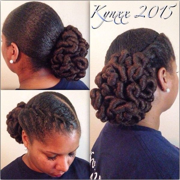 Very Pretty & Unique Natural Protective Hairstyle