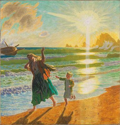 Jens Ferdinand Willumsen (Danish, 1863-1958) - «Efter Stormen» (After the storm)