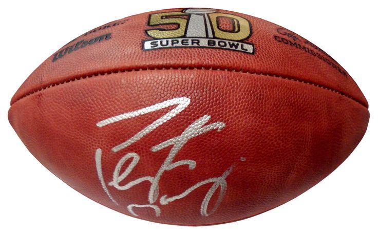 Autographed Peyton Manning Denver Broncos Super Bowl 50 Pro Football