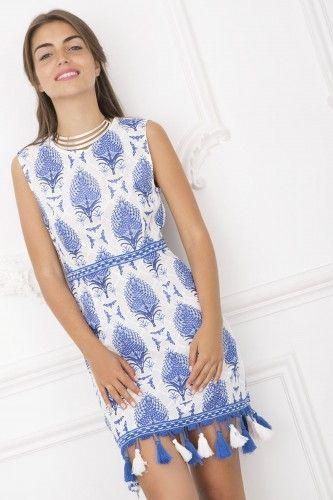 908655 Sukienka okazjonalna #casualdress #bluedress