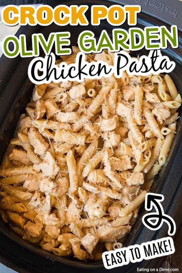 Crock pot olive garden chicken alfredo pasta - Delicious ...