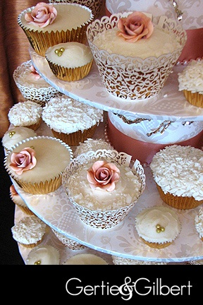 French Vintage Wedding Cupcakes by Gertie, via Flickr