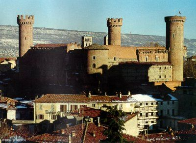 now I live here (not in the castle)  Ivrea Castle~ Building started in 1358 by order of Count Amedeo VI Savoy, to defend the Savoy territory against the claims of other lords, in a strategic position in the highest part of the city of Ivrea.