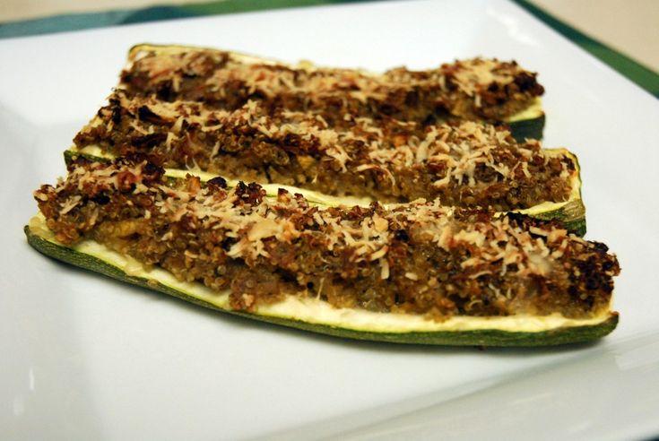 Pesto Quinoa Stuffed Zucchini | Yum! | Pinterest