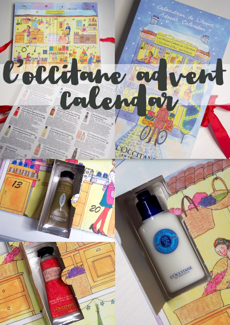 L'Occitane beauty advent calendar 2016 - flutter and sparkle blog