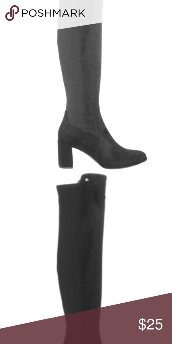 Boots Over the knee boots Never worn ***THEY ARE NOT WIDE CALF FRIENDLY :(*** They wide with on the bottom but the calf size is medium Liz Claiborne Shoes Over the Knee Boots