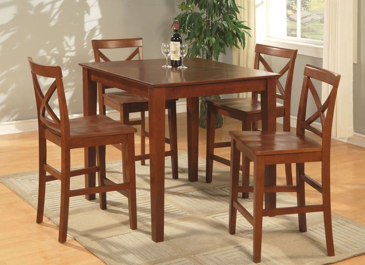 anjou 5 piece counter height pub table set