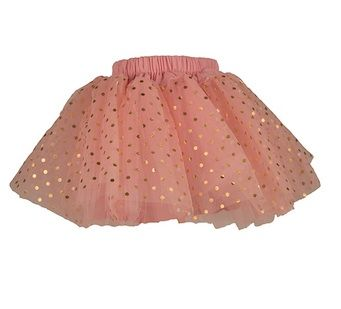 Gold Spotted Pink Party Skirt - GBP 32.00