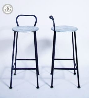 Indy Low Back Stool Greige Studio Collection Seating Hand Made Of Steel  With Galvanized Seat Seat