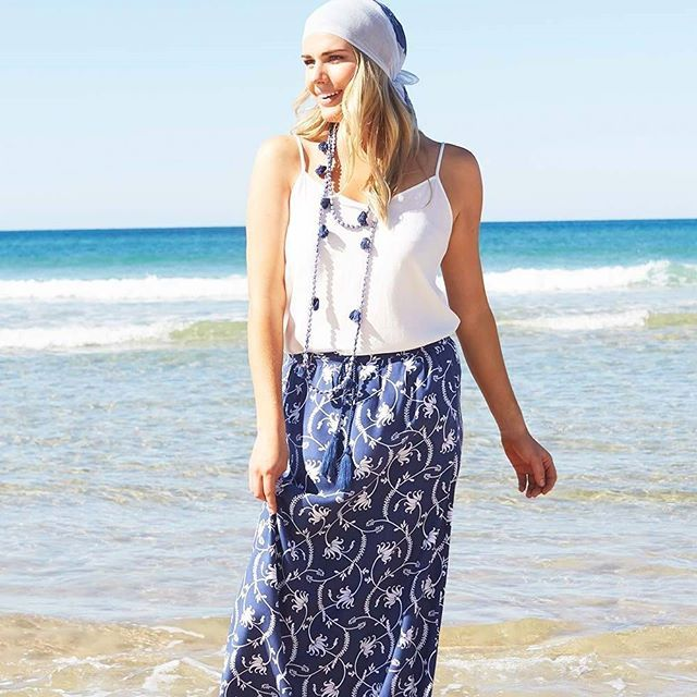 This A line maxi skirt will look gorgeous for summer with a white tee or cami…