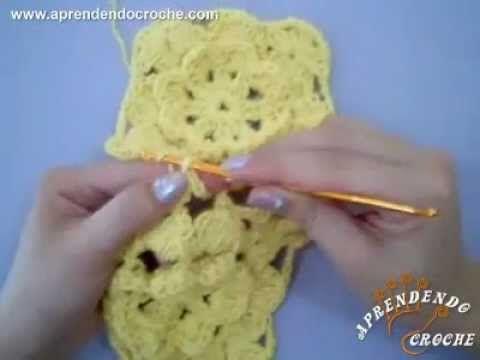 ▶ Aprenda a unir os motivos quadrados no croche - Aprendendo Crochê - YouTube