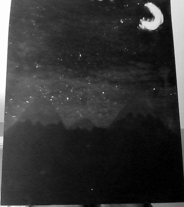 Art Camp; Night Sky Splatter Art