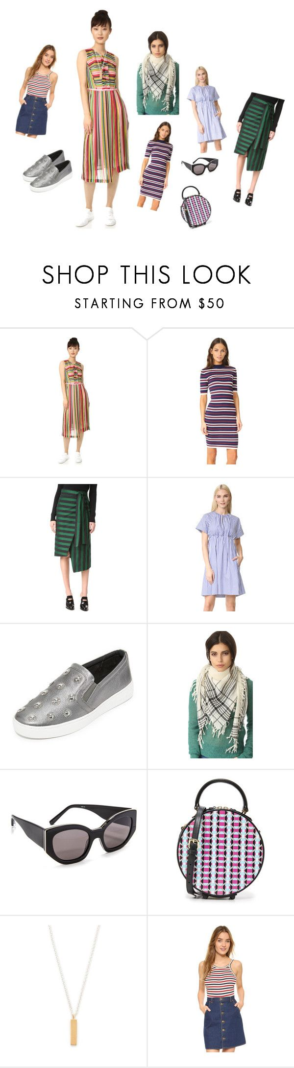 """Trendy Stripes..**"" by yagna ❤ liked on Polyvore featuring N°21, J.O.A., Rochas, Victoria, Victoria Beckham, MICHAEL Michael Kors, Madewell, Elizabeth and James, MayraFedane, Maya Magal and Capulet"