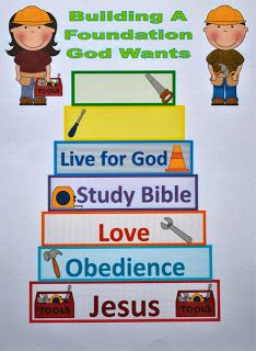 Tower of Babel...Build good foundation and tools for the job...great for community helpers as well!