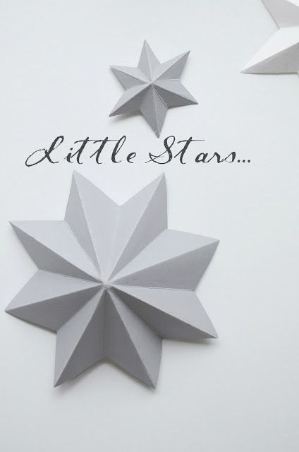Little cardboard stars
