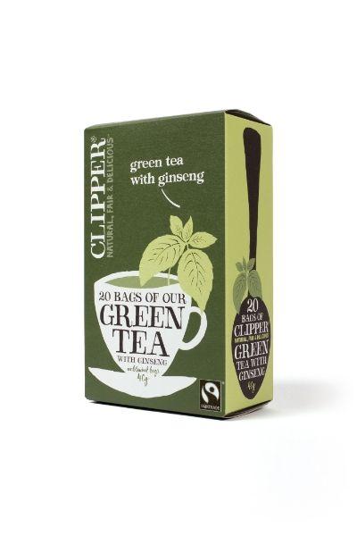 Vihreä tee, ginseng-vadelma