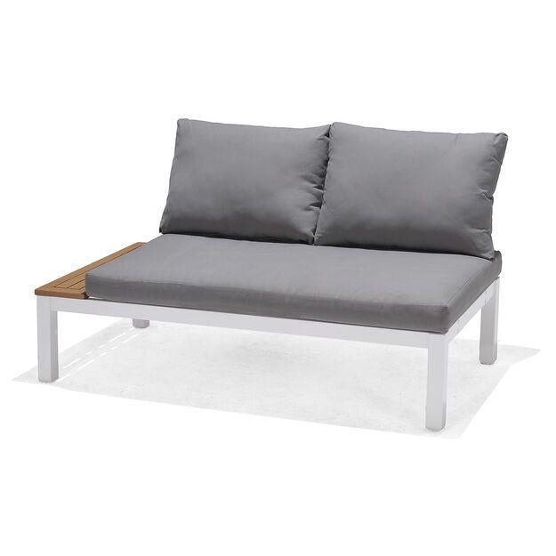 Gartenlounge Element Mit Kissen 2 Sitzer 140x76x73cm Grau In 2020 Garten Lounge Lounge Outdoor Sofa