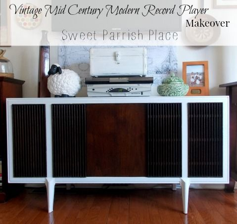 diy modern vintage furniture makeover. vintage mid century modern record player makeover how to painted furniture repurposing upcycling diy