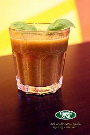 Sok warzywny brązowy: szpinak, seler, szparagi, pomidor Vegetable juice spinach, asparagus, celery, tomato http://www.vitajuice.pl