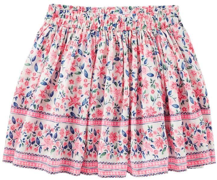 Osh Kosh Girls 4-12 Floral Twill Skirt
