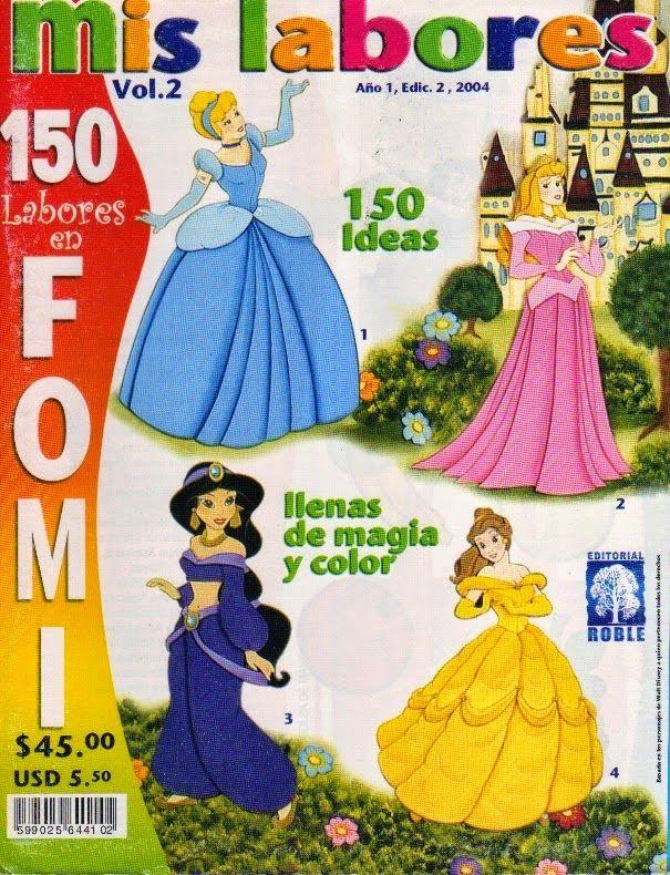 moldes de princesas en foami revista gratis