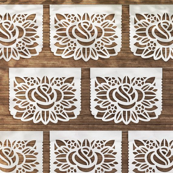 La Rosa Papel Picado / La Rosa flags by iinviteyou on Etsy