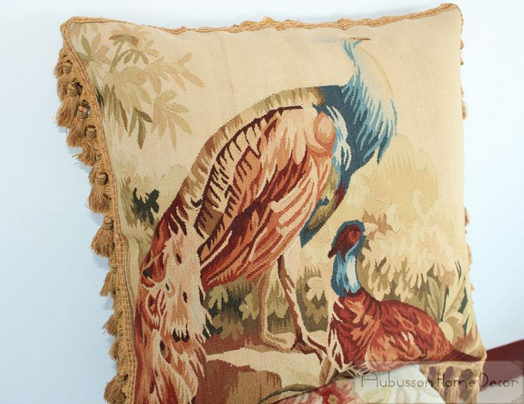 Find More Cushion Information about PEACOCK  Aubusson Tapestry Pillow Cushion FREE SHIP! Big Couch Seat Chair $700  Houseware,High Quality couch throw,China couch styles Suppliers, Cheap couch cover from Aubusson Home Decor - Fine Handwoven Aubusson on Aliexpress.com