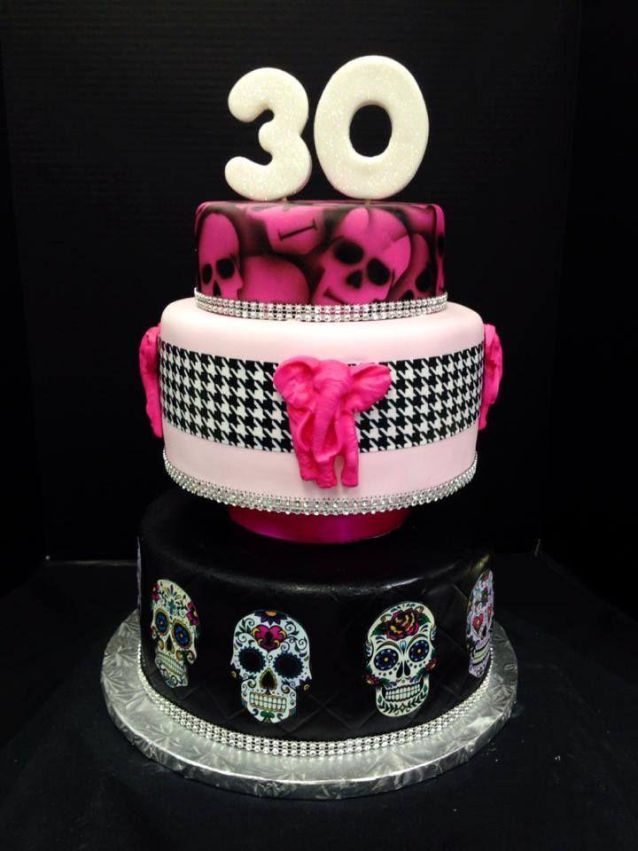 Happy 30th Birthday Skull Cake Http Www