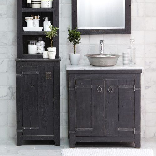 The Art Gallery  Inch Americana Bathroom Vanity Set in Anvil BNDA