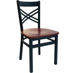 BFM Seating Akrin Black Metal Cross Back Restaurant Chair with Wood Seat   2130C SBWBest 25  Restaurant chairs for sale ideas on Pinterest   Cafe  . Metal Cafe Chairs Sale. Home Design Ideas