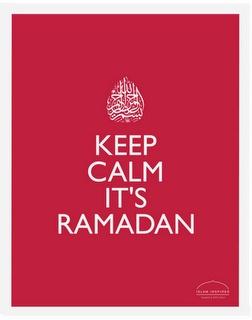 It's Ramadan.