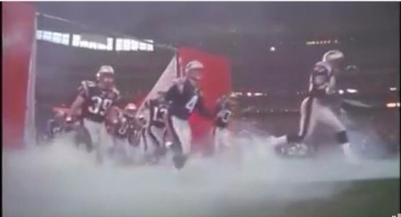Pats coming onto the field (Pats vs Steelers)