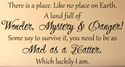 Mad Hatter Quote 6 Impossible Things Pinterest To Be Its You And Places