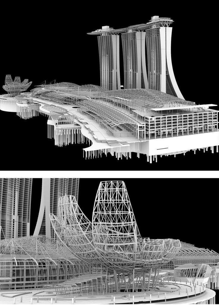 Marina Bay Sands structural model, ARUP