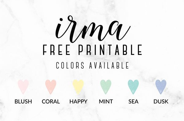 Free Printable Irma Weekly Planners by Eliza Ellis - The perfect organizing…