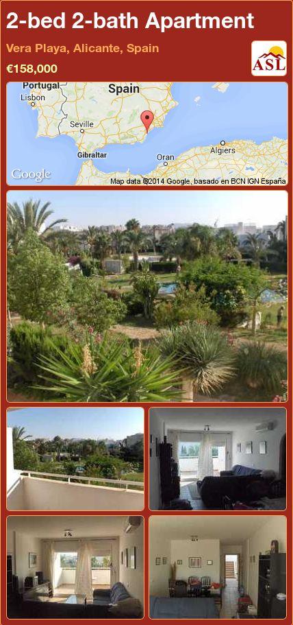 2-bed 2-bath Apartment in Vera Playa, Alicante, Spain ►€158,000 #PropertyForSaleInSpain