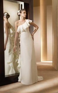 Anade строгое прямое в стиле минимализм свадебное платье